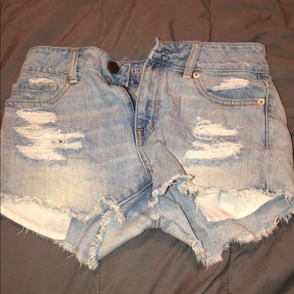 Hollister Pants - Blue jeans shorts